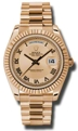Rolex Day-Date II 218235CCRP Champagne Concentric Casual Watches