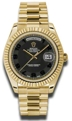 Rolex Day-Date II 218238BKCAP Mens 18kt Yellow Gold Casual Watches