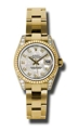 Rolex Lady Datejust 179238MTDO 18kt Yellow Gold Case Set With 24 Diamonds Luxury Watches