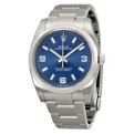 Rolex Oyster Perpetual 114200BLASO Mens Stainless Steel Luxury Watches