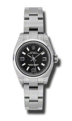 Rolex Oyster Perpetual No Date 176200BKSAO Ladies 26 mm Casual Watches