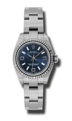 Rolex Oyster Perpetual No Date 176234BLASO Ladies Blue Luxury Watches