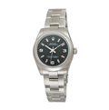 Rolex Oyster Perpetual No Date 177200BKAPSO Stainless Steel Luxury Watches