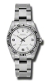 Rolex Oyster Perpetual No Date 177234WASO Unisex White Luxury Watches