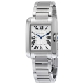 Silver Cartier Tank Anglaise W5310044 Luxury Watches Ladies