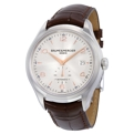 Silver-Sun Brushed Baume et Mercier Clifton 10054 Dress Watches Mens