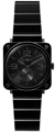 Unisex Bell and Ross Aviation Luxury Watches BRS-BLK-CER-PHT