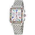 White Enamel Michele Dress Watches Ladies