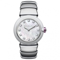 White Mother of Pearl Bvlgari 102196 Luxury Watches Ladies
