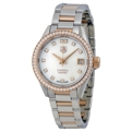 White Mother of Pearl Tag Heuer WAR2453.BD0772 Casual Watches Ladies