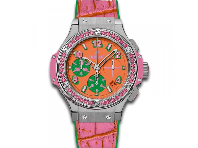 Replica Hublot 341.SP.4779.LR.1233.POP15 Ladies Polished and Satin-finished Stainless Steel Luxury Watches