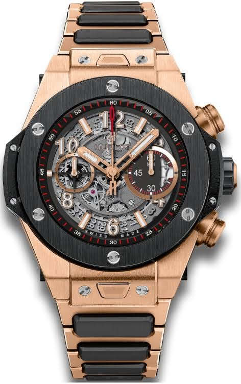 Replica Hublot 411.OM.1180.OM Polished and Brushed 18K Rose Gold Luxury Watches