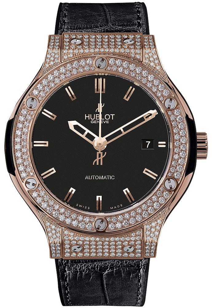 Replica Hublot Classic Fusion 565.OX.1180.LR.1704 18 Carat Rose Gold with Diamonds Luxury Watches