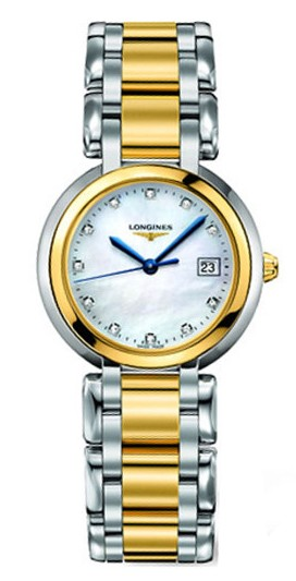 Replica Longines L8.112.5.93.6 Ladies 18 Carat Yellow Gold and Stainless Steel Luxury Watches