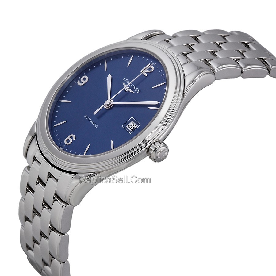 Blue Longines L4.874.4.96.6 Casual Watches Mens