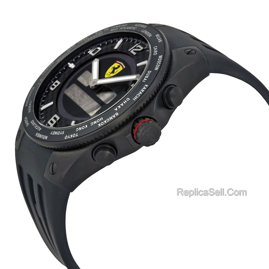 Ferrari World Time FE-05-IPB-FC Mens Mineral Sport Watches